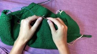 Как вязать укороченные ряды/способ с накидами