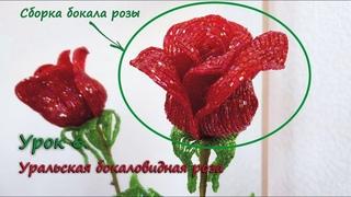 Бокаловидная роза. 🌹 Урок 6 - Сборка бокала розы / Cup-shaped rose. Lesson 6 - Rose bud assembling