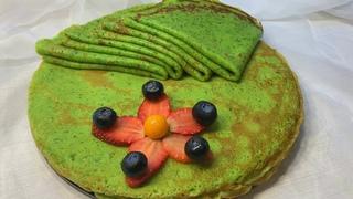 Блины из шпината - простой рецепт! Pancakes with spinach - the recipe is simple! 시금치 팬케이크-간단한 요리법!