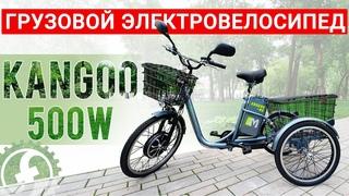 Грузовой трехколесный электровелосипед с корзинами   E-motions Kangoo-ru 500W