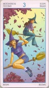 Таро Юных Ведьм. Младшие Арканы. Помело U7tD2Von7f4