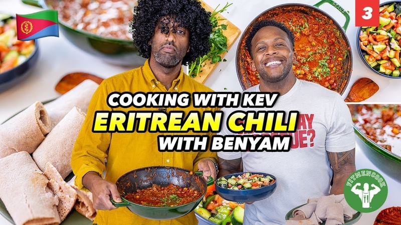 Cooking with Kev Teaching a Dad How to Cook Eritrean Chili for his Family
