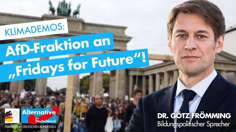 AfD-Fraktion an Fridays for Future - Dr. Götz Frömming