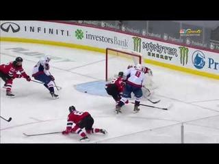 Evgeni Kuznetsov scores vs Devils from great Alex Ovechkin pass (2021)