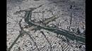 Paris France Itinéraire de visite touristique et culturelle par vue aérienne de la ville en 3D