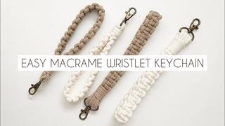 DIY:  MACRAME WRISTLET KEYCHAIN | EASY MACRAME TUTORIAL | MACRAME FOR BEGINNERS