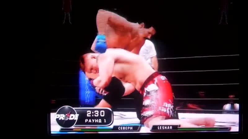 UFC 3 Dan Severn vs Brock Lesnar Pride wrestlers fight Битва рестлеров Дэн Северн против Брока Леснара 11DeadFace