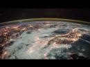 Вид Земли из космоса со звуком