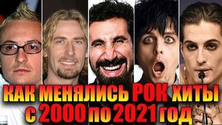 КАК МЕНЯЛИСЬ ЗАРУБЕЖНЫЕ РОК ХИТЫ С 2000 ПО 2021 ГОД//КАК МЕНЯЛИСЬ РОК ХИТЫ ЗА 21 ГОД