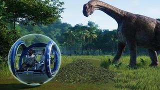 Динозавры. Первая прогулка по парку динозавров. Jurassic World Evolution