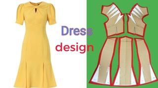 Cắt may Đầm đuôi cá, cổ kiểu nơ liền cực sành điệu - phần 1|dress design |le fashion |