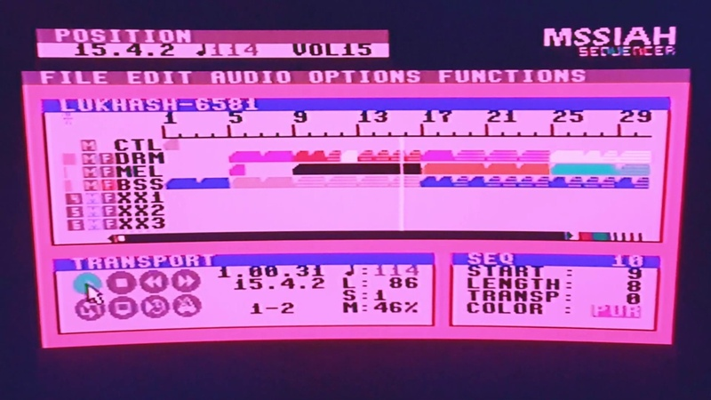 Song made on a Commodore 64 running MSSIAH Sequencer Single 6581 SID chip