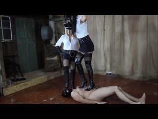 Cruel goddess sadistas double trample femdom mistress