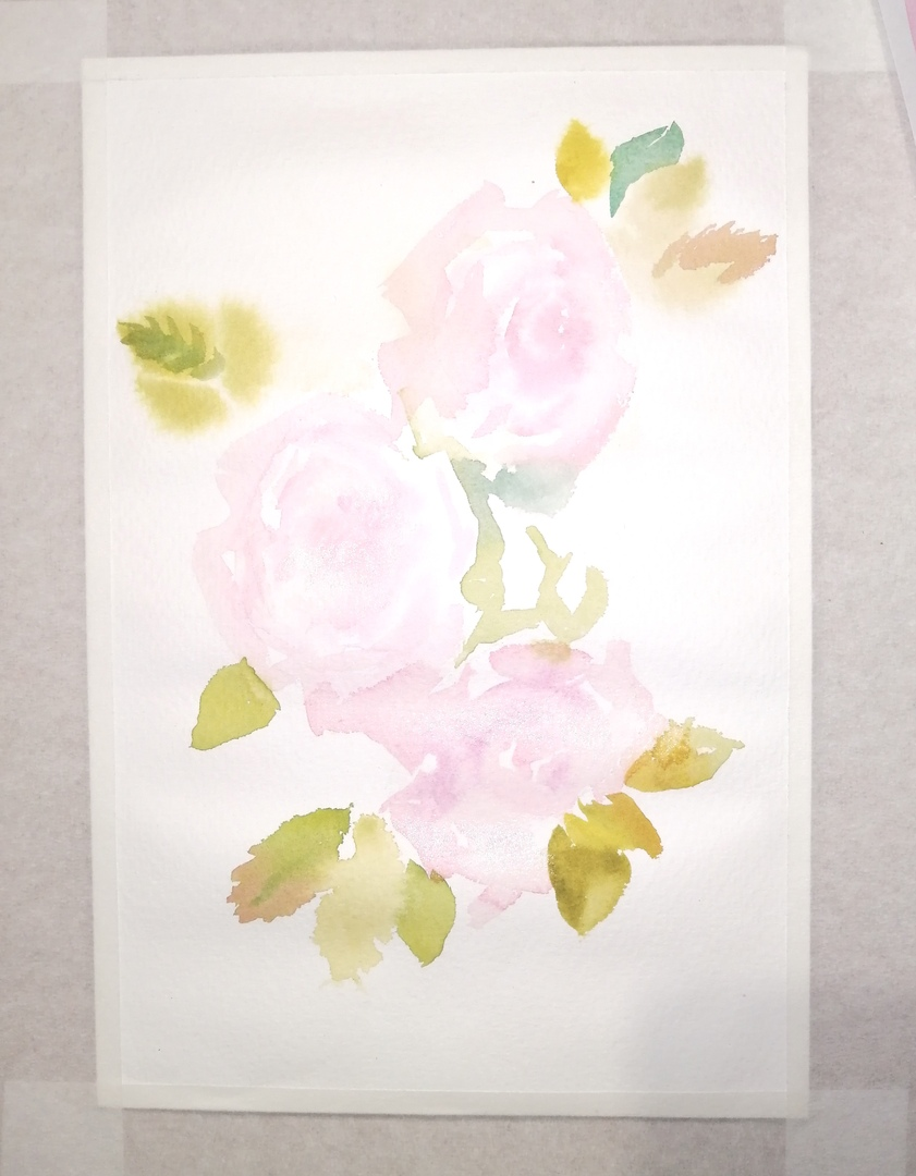 ОНЛАЙН-УРОК по рисованию «Дикая роза», изображение №5