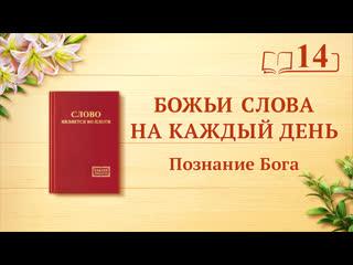 Слово Божье   «Как познать Божий характер и результаты, которых достигнет Его работа»   (отрывок 14)