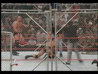 WWF The Rock Vs Stone Cold Steve Austin Steel Cage Match PART 2