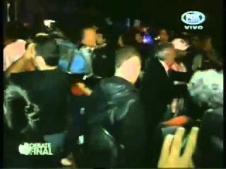 Incidentes entre los hinchas de Tigre y los jugadores de Boca, luego del partido