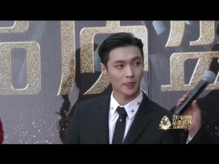 [cut] 170226 exo's lay red carpet + interview @ chinese tv drama quality ceremony