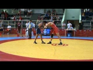 55th Tournament PYTLASINSKI 2012. Gold medal fight at 55kg: Modos Peter  (HUN) vs Abou Hacima Mohamed  (EGY)
