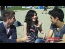 Demi Lovato Joe Jonas on the Set of Make A Wave Celebrity Take with Jake Part 2
