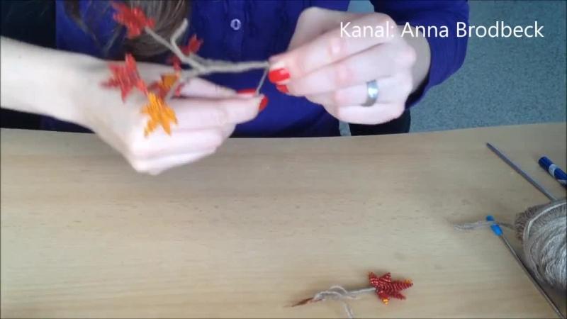 Ahorn aus Glasperlen mit einzelnen Blättern Perlenbaum