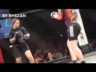 Veronica Macedo vs Chrissy Audin - Headkick KO |BY RYAZAN