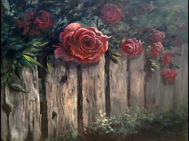 Paint with Kevin Roses over the Fence