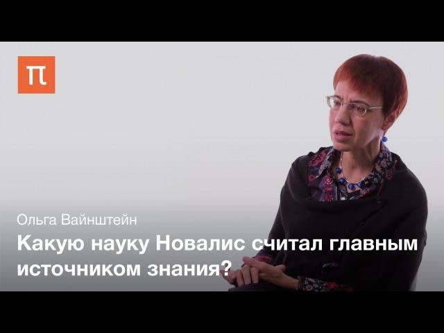 Интеллектуальный романтизм Новалиса Ольга Вайнштейн