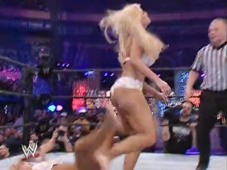 Torrie Wilson and Sable vs. Rey Stacy Keibler and Miss Jackie Playboy Evening Gown match