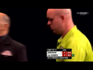 Michael van Gerwen v Gary Anderson (2015 Premier League Darts / Final)