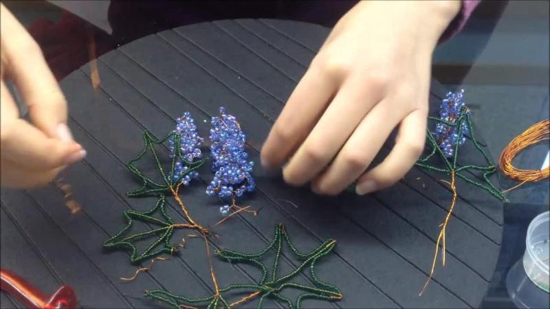Glasperlen Weintrauben Teil 3 3 Beaded Grapes Anna's Perlen
