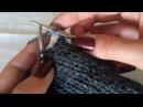 Вязание носка от мыска с пяткой типа бумеранг