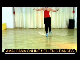 ZORBA THE GREEK SYRTAKI DANCE LESSON Part 1/teacher Maria Athanassiadou Greece