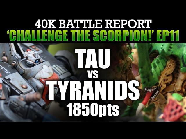Tyranids vs Tau Warhammer 40K Battle Report CTS11 TRIAL BY GUNLINE! 1850pts | HD