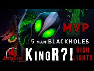 KingR - MVP Rubick - 5 MAN BLACKHOLES vs. Secret - Game 2 @ ESL One Manila