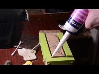 Изготовление формы из строительного силиконового герметика.Форма для искусственного камня.Часть №2