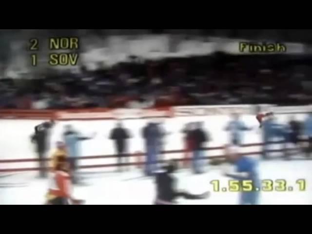 1982.02.28 Лыжные гонки, чемпионат мира, мужчины, эстафета 4х10 км(финиш) )