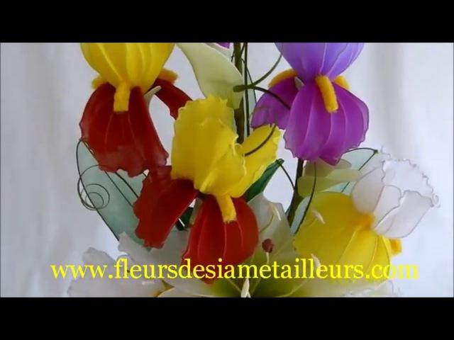 Fabrication dun iris en collant Nylon Iris