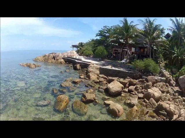 Koh Phangan s beaches bird s eye GoPro paramotor video