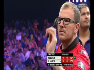 Mark Webster vs Jelle Klaasen (World Grand Prix 2015 / Quarter Final)