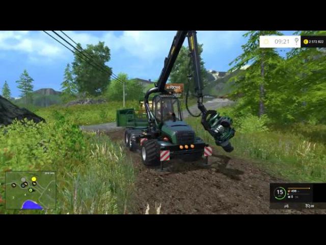 Farming Simulator 2015 Ponsse CSAL Scorpion tree harvetser and Jenz CSAL Chipper обзор