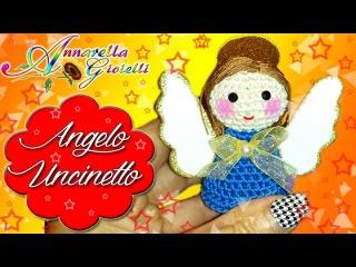 Tutorial Angelo di Natale all'Uncinetto   Angelo Amigurumi   How to crochet a Christmas Angel