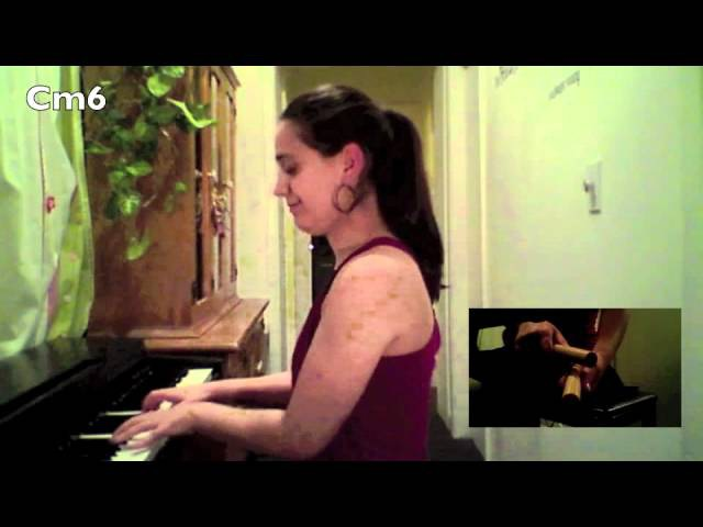 How to play a Salsa montuno tumbao on the piano tutorial 1