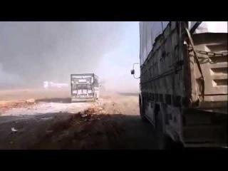 СИРИЯ в ОГНЕ! ВКС РФ уничтожили конвой боевиков ИГИЛ - SYRIA! Russian jets destroyed ISIS convoy