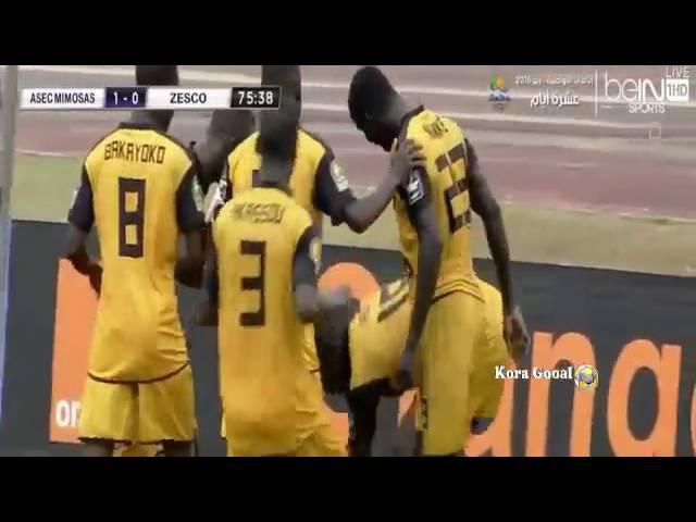 ASEC Mimosas vs ZESCO United 1 1 CAF Champions League 27 72016