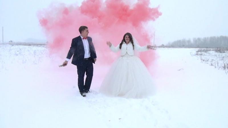 Снегопадная свадьба Саши и Кристины