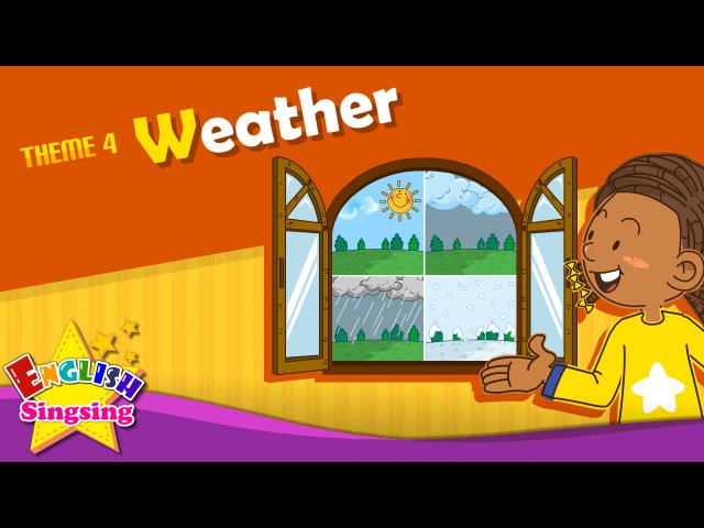 Theme 4 Weather How's the weather It's sunny ESL Song Story Learning English for Kids