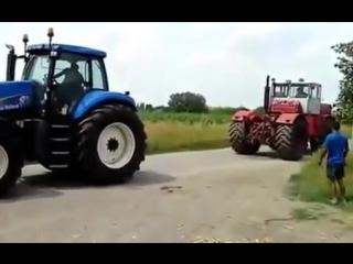Русский трактор против немецкого(russian tractor against the german)