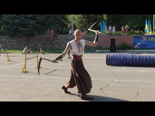 Martial arts of Ukraine: two of the blade of a Cossack, 100% attack.