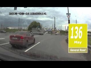 Подборка ДТП На Мигающий Зеленый - Май 2016